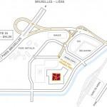 Plan d'accès Lotto Mons Expo